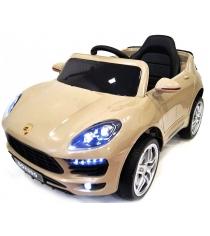 Электромобиль Porsche Macan бежевый