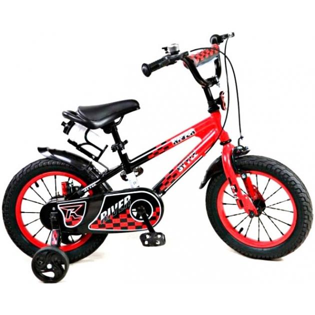 Двухколесный велосипед RVR RiverBike F-14 (от 3 до 5 лет) черно красный