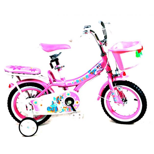 Двухколесный велосипед RVR RiverBike S-12 (от 2 до 4 лет) розовый