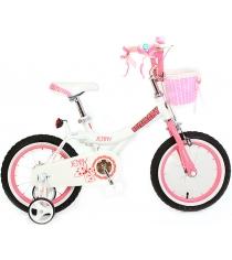 Двухколесный велосипед Royal Baby Princess Jenny Girl Steel 4-6 лет RB16G-4 Б/Розовый