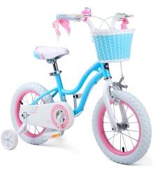 Двухколесный велосипед Royal Baby Stargirl Steel 4-6 лет RB16G-1 Голубой/Розовый