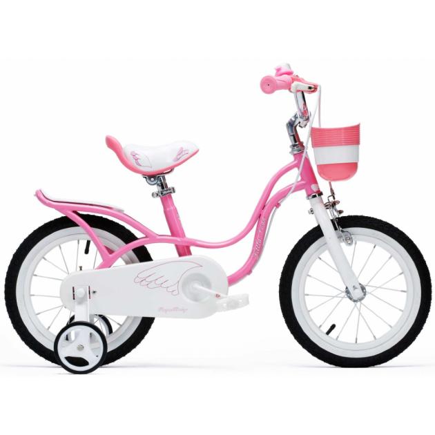 Двухколесный велосипед Royal Baby Little Swan с багажником 5-8 лет RB16-18 Розовый
