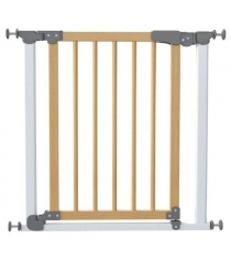 Ворота Safe and Care на распорках сосна белый 77-83.5 см 340-01