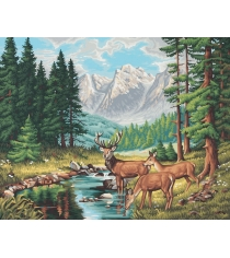 Раскраска по номерам Schipper Горный пейзаж 9130344...