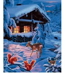 Раскраска по номерам Schipper Романтическая зимняя ночь 9130630...