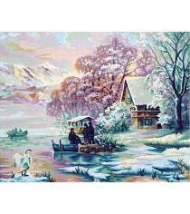 Раскраска по номерам Schipper Горное озеро зимой 9130700