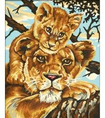 Раскраска по номерам Schipper Львица с львенком 9240383...