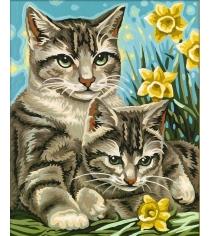 Раскраска по номерам Schipper Кошка с котенком 9240437...