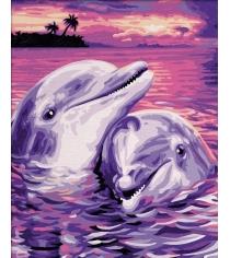 Раскраска по номерам Schipper Дельфины 9240659