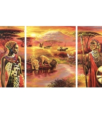 Раскраска по номерам Schipper Триптих Килиманджаро 9260438
