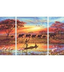 Раскраска по номерам Schipper Триптих Африка-Магический континент 9260627