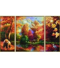 Раскраска по номерам Schipper Триптих Осень 9260650