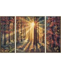 Раскраска по номерам Schipper Триптих Осенний лес 9260688