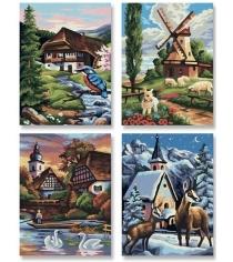 Раскраска по номерам Schipper 4 картины Времена года 9340552