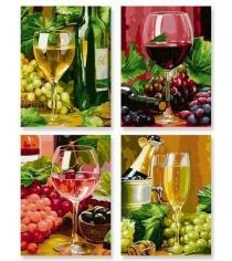 Раскраска по номерам Schipper 4 картины Вино 9340610