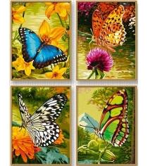 Раскраска по номерам Schipper 4 картины Бабочки 9340628