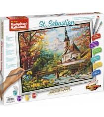 Раскраска по номерам Schipper Церковь св. Себастьяна в Рамзау пастозная техника 9430729