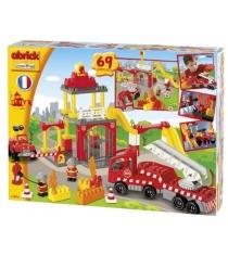Конструктор Ecoiffier пожарная станция и машина Abrick 3149...