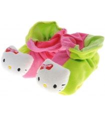 Пинетки погремушки Simba Hello Kitty Тапочки розовые с зеленым 4014804