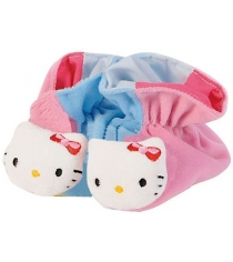 Пинетки погремушки Simba Hello Kitty Тапочки розовые с голубым 4014804