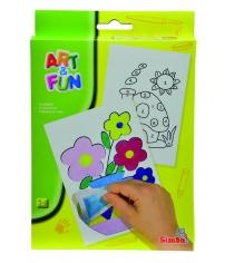 Набор для рисования цветным песком Simba Art Fun цветы и домик 6330378...