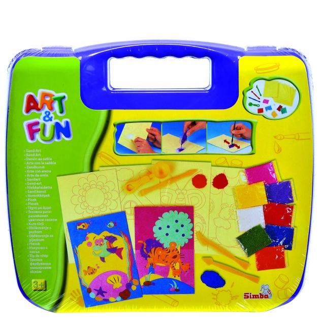 Набор для творчества Simba Art Fun в фиолетовом чемоданчике 6330639