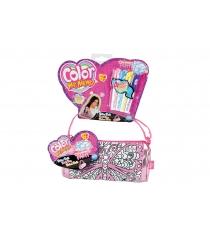 Детская сумка раскраска Color Me Mine Алмазный блеск 4 перманентных маркера 6372204