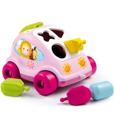 Пластиковый сортер Smoby Автомобиль с фигурками розовый 211323...