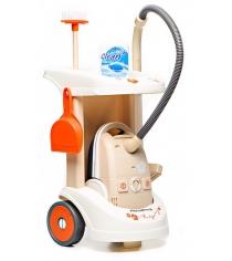 Игрушка для уборки Тележка для уборки с пылесосом Smoby 24613