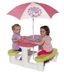 Детский столик для пикника с зонтиком Hello Kitty Smoby 310256