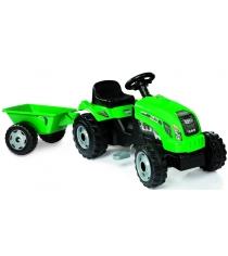 Трактор педальный Smoby со звуковыми эффектами и прицепом GM Bull 33329