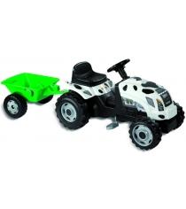 Трактор педальный Smoby со звуковыми эффектами и прицепом GM Thme Vache 33352