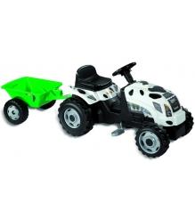 Трактор педальный Smoby со звуковыми эффектами и прицепом GM Thme Vache 33352...