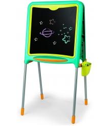 Детский мольберт Smoby двухсторонний складывающийся зеленый 410304