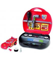 Машинка с конструктором Smoby Молния Маккуин Тачки 2 в чемоданчике 500180