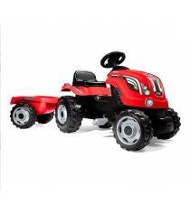 Детский педальный трактор Smoby XL с прицепом 710108