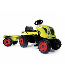 Детский педальный трактор Smoby XL с прицепом Claas 710114