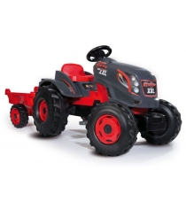 Детский педальный трактор Smoby XXL с прицепом 710200