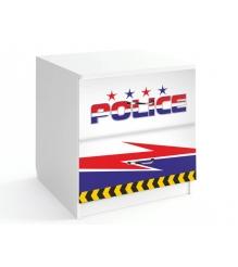 Детская прикроватная тумбочка Спорткар / Субару Полиция