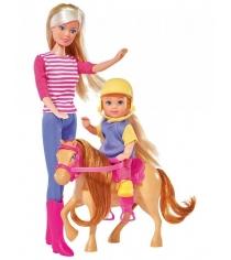 Кукла Simba Штеффи и Еви с пони на ферме 5738051
