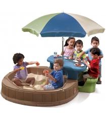 Столик для игр с водой и песком с песочницей Step 2 843700...