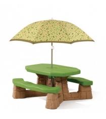 Детский столик для улицы Step 2 Пикник с зонтиком 843800