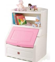 Ящик комод для игрушек Step 2 с розовой крышкой 885000...