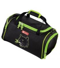Сумка спортивная Wild Cat полиэстер черный/зеленый Step By Step 00119699
