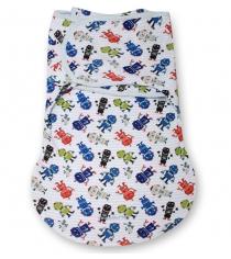 Конверт с 2 способами фиксации Summer infant Wrap Sack Summer размер S/M белый/...