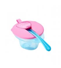 Тарелочка explora с отделением для разминания и охлаждения пищи розовая Tommee tippee 44670241-1