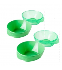 Набор глубоких тарелочек explora зеленые 4 шт Tommee tippee 44671441-2