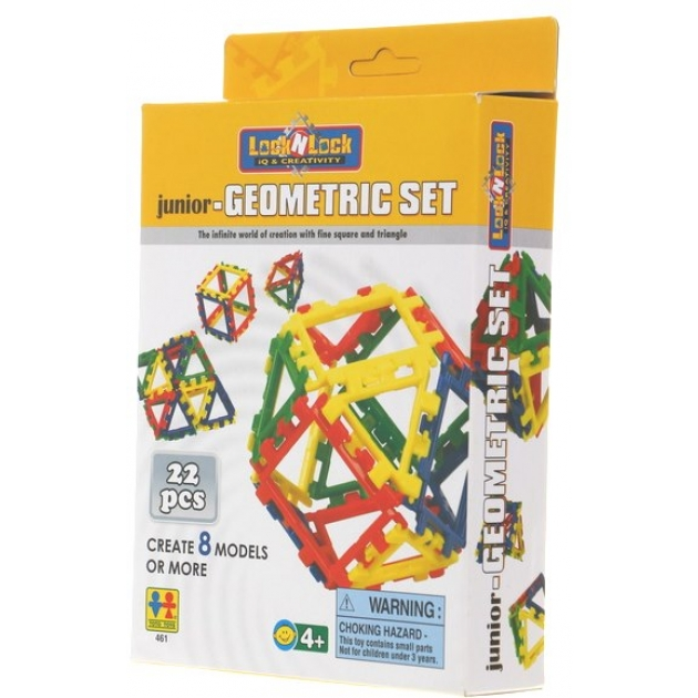 Конструктор Lock N Lock Junior-Geometric Set 22 дет. Tototoys 461