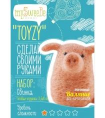 Набор для валяния Toyzy Свинка начальный TZ-F012