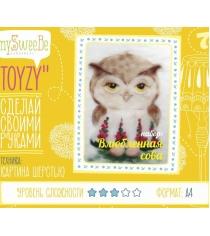 Набор для картин шерстью Toyzy Влюбленная сова TZ-P027